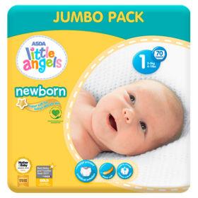 Little Angels Newborn Size 1 Nappies Jumbo Pack