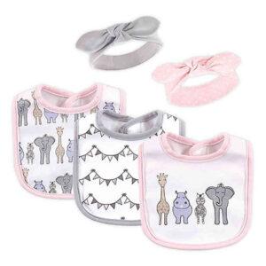 Baby Girls' Bib and Headband Set