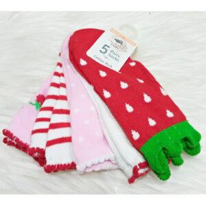 Primark 5 in 1 Girls Socks