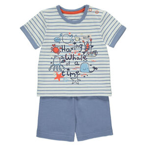 Blue Whale T Shirt and Shorts Outfit